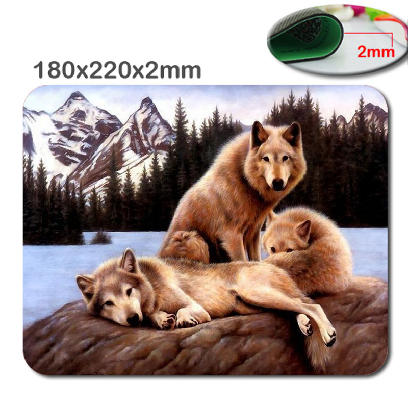 Snow Wolf Wholesale Aangepaste rechthoek Antislip Rubber 3D printen gaming rubber duurzaam notebook muismat 220 mm * 180 mm * 2 mm