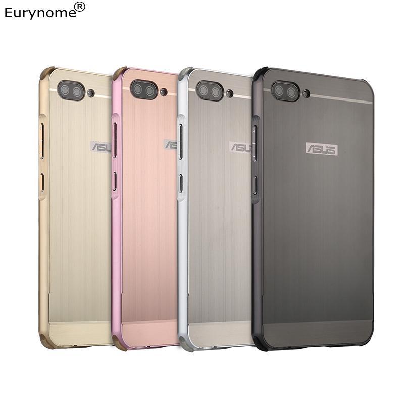 Cas de luxe D'origine Pour ASUS Zenfone 4 MAX ZC554KL Cadre En Aluminium En Métal Boîtier En Plastique Couverture pour Asus Zenfone 4 Max ZC520KL Cas