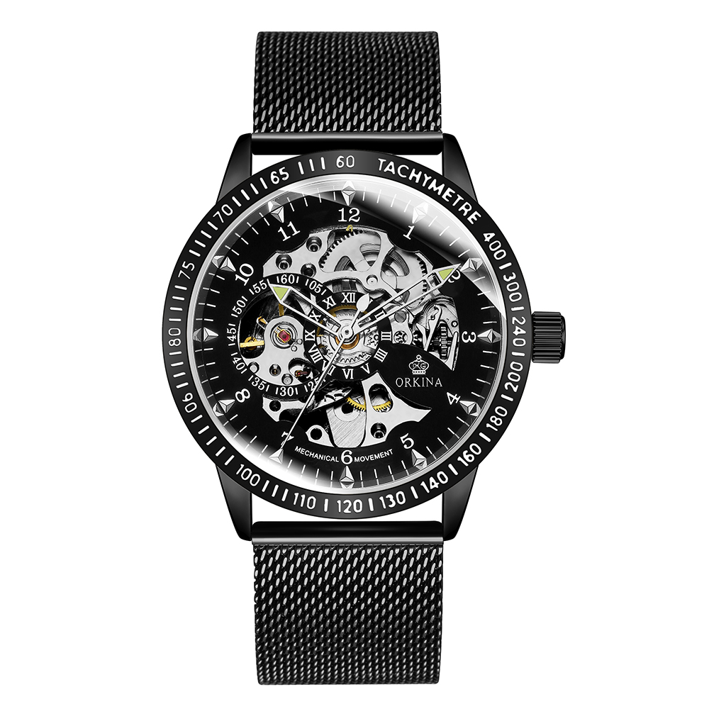 MG ORKINA 2019 Mens Watches Skeleton Mechanical Fashion Casual Mesh Steel Band Automatic Male Clock Wristwatch Relogio MasculinoMG ORKINA 2019 Mens Watches Skeleton Mechanical Fashion Casual Mesh Steel Band Automatic Male Clock Wristwatch Relogio Masculino