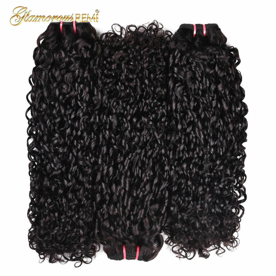 Peruvian Funmi hair Piexy curl Double drawn Kinky Curly remy Hair one bundle Pixel curl Natural black Color can be dye For Women