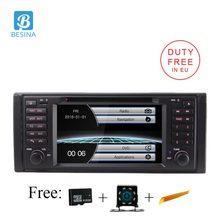 Besina 1 Din радио автомобиль BMW E39 X5 M5 E53 Автомобильный мультимедийный dvd-плеер gps навигации Canbus стерео Авто Аудио RDS USB FM Камера