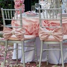 100 шт Chiavari атласная лента для стула с Preal пряжкой для свадебного украшения разноцветный атлас пояс для стула