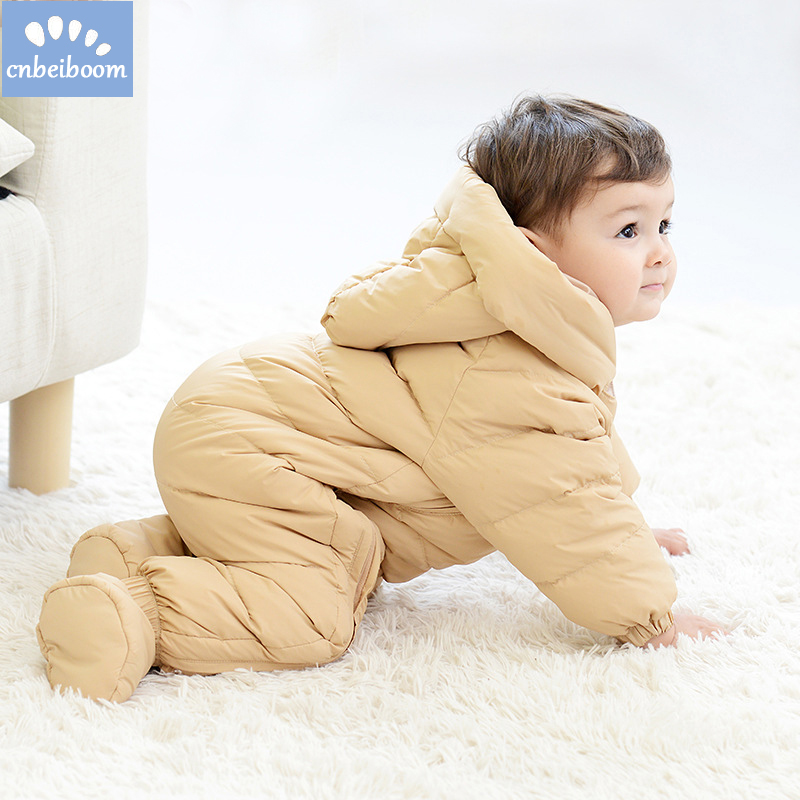 2018 Winter Baby Rompers Duck 90 Down Newborn Infant Snowsuit Boys Girls Warm Overalls Kids Jumpsuit Outerwear clothes Romper
