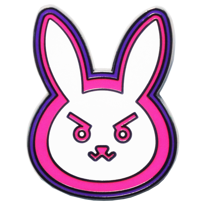 Anime OW D.Va Metal Badge Pin Brooch Limit Cute Rabbit Brooch Cosplay Gifts Collection Exquisite Gifts