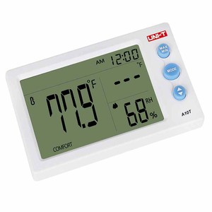 Image 3 - UNI T A10T digital lcd thermometer Humidity meter clock hygrometer of Weather Station Tester With Alarm Clock Function