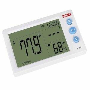 Image 3 - UNI T A10Tデジタルlcd温度計湿度計クロック湿度計ウェザーステーションのテスターとアラーム時計機能