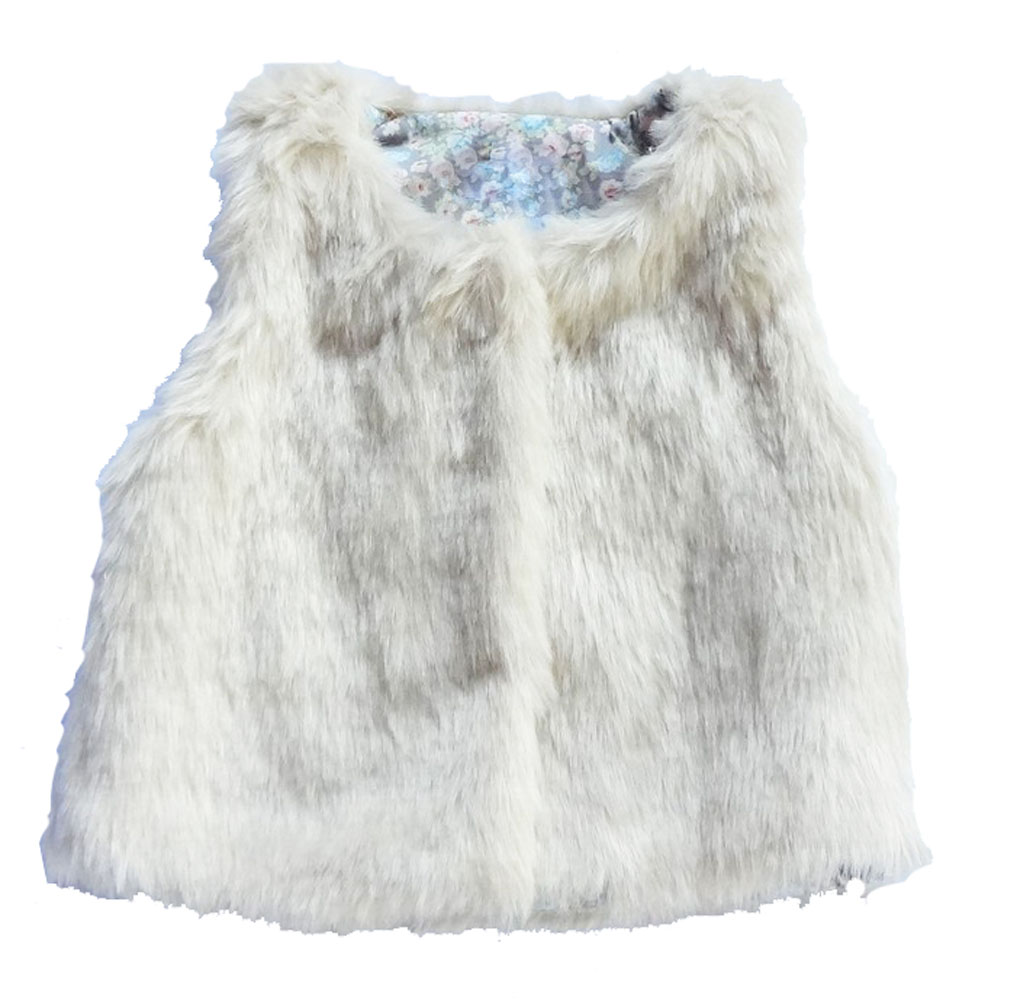 Hot Baby Girls Toddler Faux Fur Vest Tops Winter Autumn Warn Clothes 4 5 6T