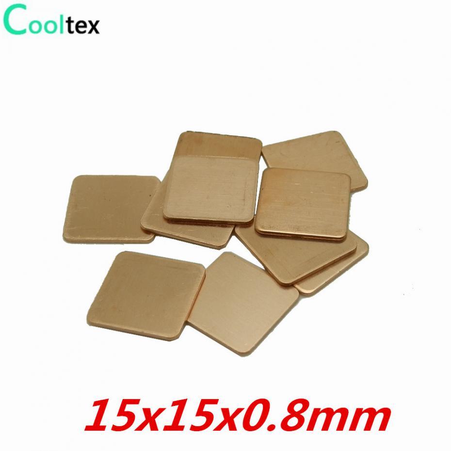 10pcs 20mm*20mm*1.5mm Heatsink Copper Shim Thermal For Sony Playstation PS3 GPU