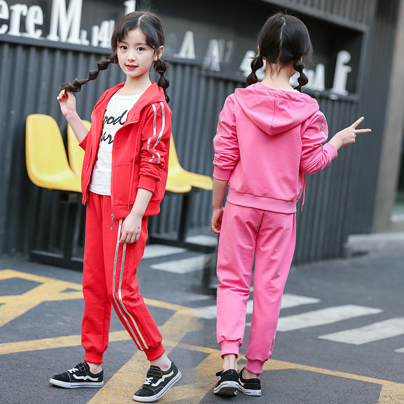 New Arrival Daiyi Girls Sport Suits Kids Clothes Sets Striped Cotton Children Clothing Set For 6-14 Years 2018 new arrival girls clothing set