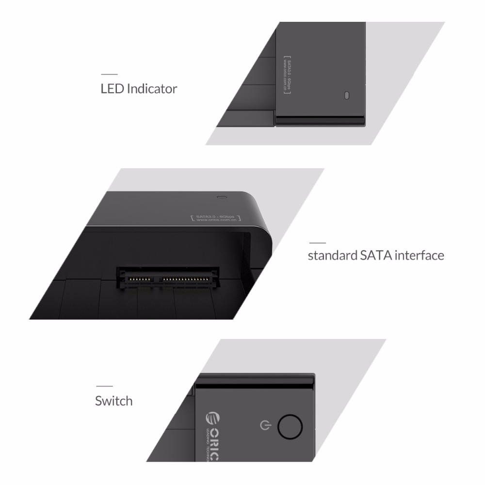 ORICO SATA to USB 3.0 2.5 /3.5 inch HDD Hard Drive Docking Station Enclosure BK 125
