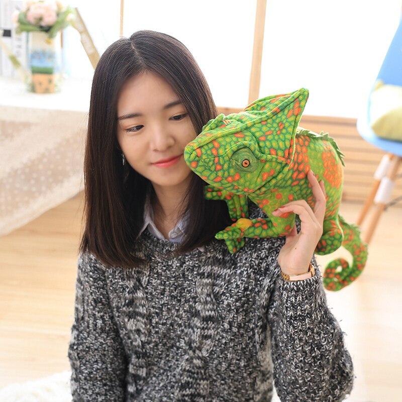 Nouvelle peluche simulation vert et rouge caméléon jouet creative lézard poupée cadeau sur 69x28 cm 2733