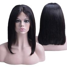 Прямые короткие парики из человеческих волос 150% плотности 13X4 Прямые парики из кружева перед