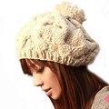 1PCS Women's Hats Fashion Woman Cap Winter Hats Female Warm Hats Knitted Cap For Women Skullies & Beanies Chapeu Feminino