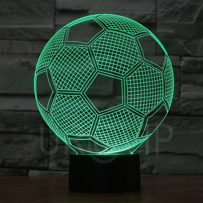 JC-2882 Amazing 3D Illusion led Table Lamp Night Light with football  shape (2)