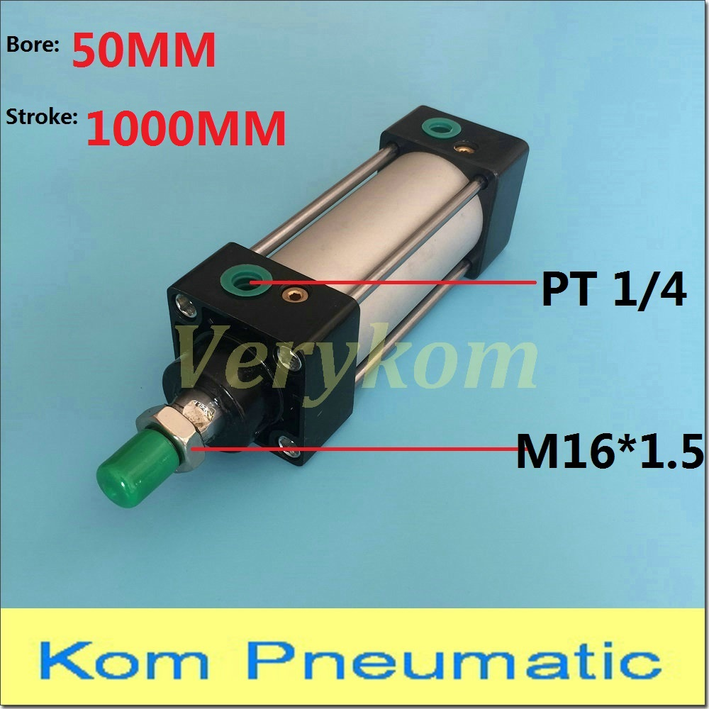 Pneumatic Standard Air Cylinders Bore 50mm Stroke 1000mm Port 1 4 Thread SC 50x1000 50 1000