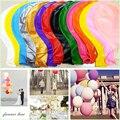 """1 pcs Decoração Do Casamento 36 """"90 CM Hélio Grande Latex Balões Decoração de Festa Grande Gigante Metálico Balões De Ar Inflável Arch"""