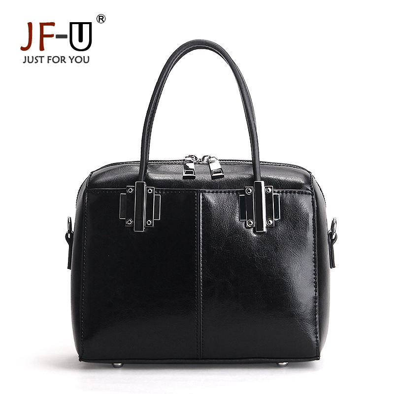 ФОТО JF-U 2017 Fashion Brand Genuine Leather Shoulder Bag Female Boston Bags Women Leather Handbags Real Leather Bolsa Feminina