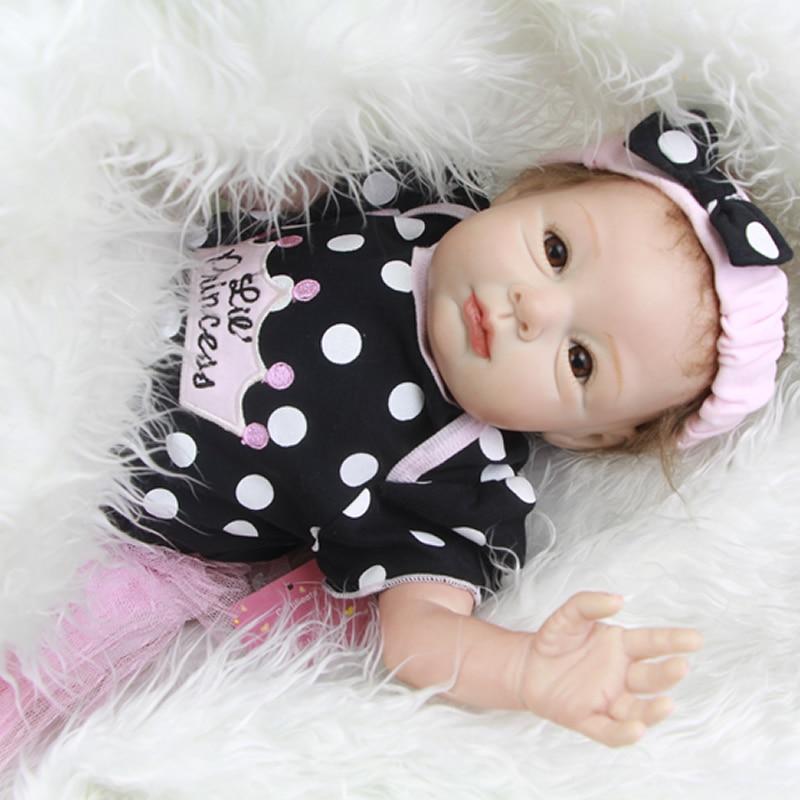 22 Inch 55 CM Truly Real Newborn Lifelike Princess Girl Babies Realistic Handmade Reborn Dolls