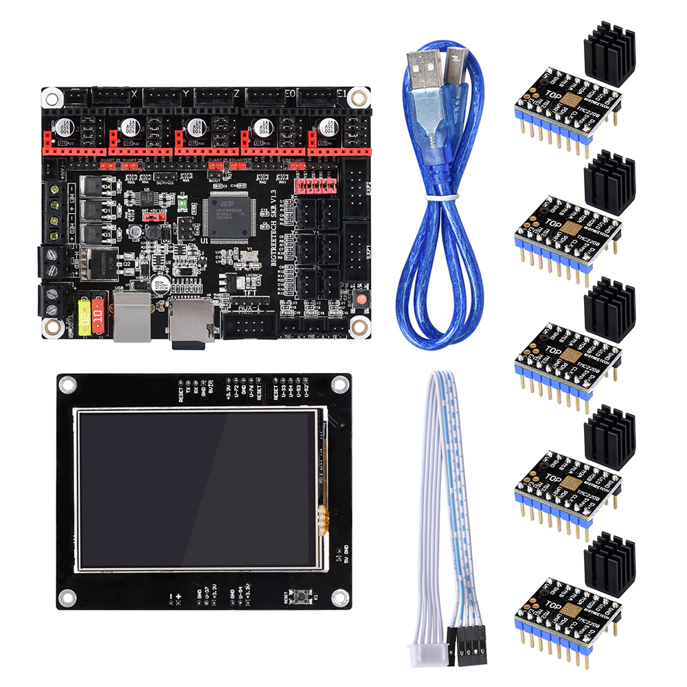 BIGTREETECH SKR V1.3 32 Bit Scheda Madre Con DISPLAY TFT 3.5 Touch Screen TMC2208 TMC2130 Uso Smoothieboard per A8 Ender 3 3d stampanteBIGTREETECH SKR V1.3 32 Bit Scheda Madre Con DISPLAY TFT 3.5 Touch Screen TMC2208 TMC2130 Uso Smoothieboard per A8 Ender 3 3d stampante