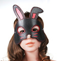 Rabbit face type blindfold mask cosplay adult games bdsm fetish eye hood bondage sex mask erotic toys for couples