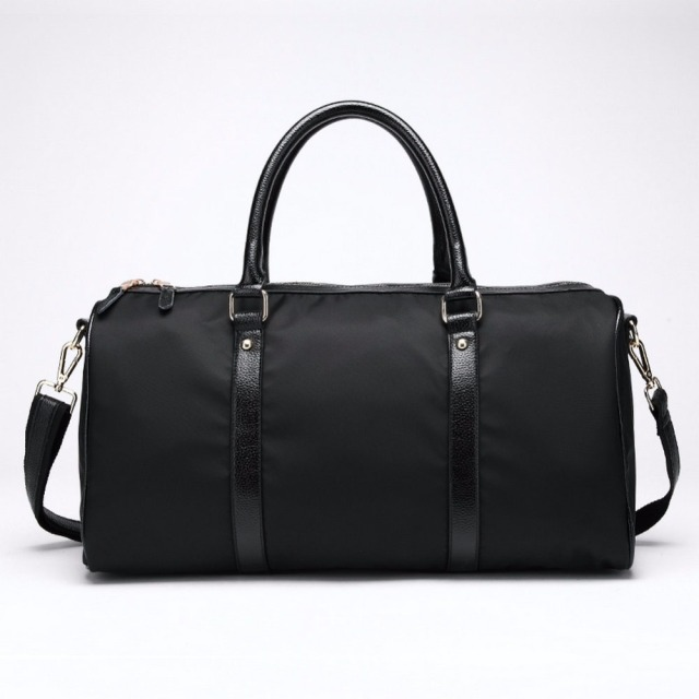 b2b086b23ede Fashion weekend bag nylon black color travel bag man and women s fashion  overnight bag big capacity