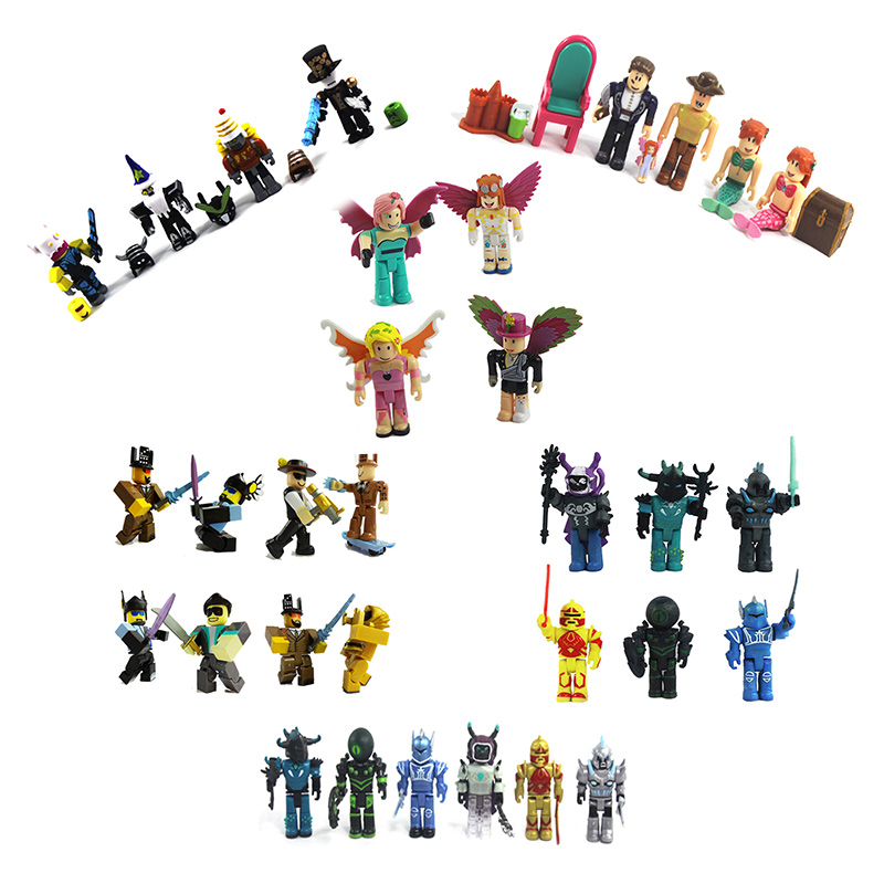 Minecraft Roblox Toys 7cm PVC Mini Game Model Roblox Boys Action & Toy Figures Juguetes aiboully full range peppaed pig toys pvc action figur toy juguetes baby kid birthday gift brinque