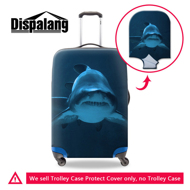Luggage Protective Cover Shark 3D Print Travel Luggage Cover Whale Animal Suitcase Protective Cover Apply For 18-30 Inch Case