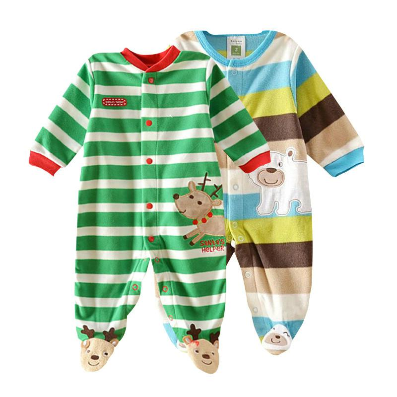 Baby clothing ! 2018 baby girl clothes Newborn clothes fleece romper long-sleeve baby product , infant boy clothes babies newborn infant girl boy long sleeve romper floral deer pants baby coming home outfits set clothes