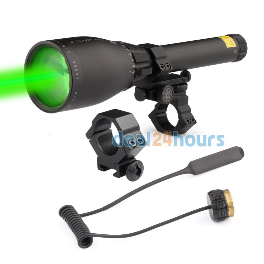 New Laser Genetics ND3 x 50 Long Distance Green Laser Designator Scope With Mount Free Shipping! цена и фото