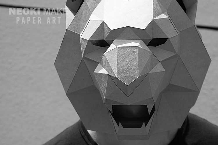 Detail Feedback Questions about DIY Animal Lion Mask Headgear 3D