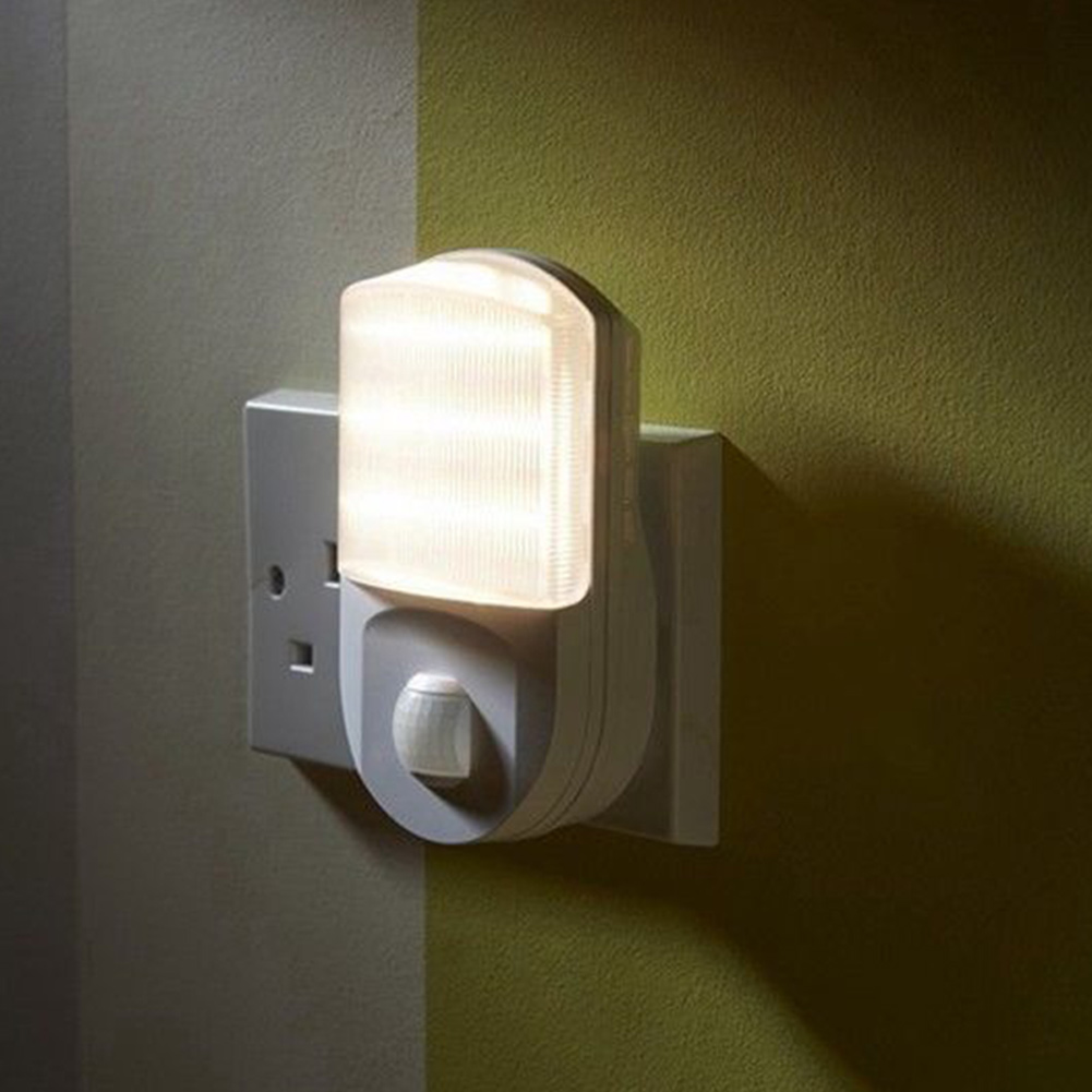 9 LED PIR Motion Sensor Night Light Home Hallway Bedroom Socket Wall Lamp EU Plug ALI88 светильник think geek minecraft redstone ore n00313