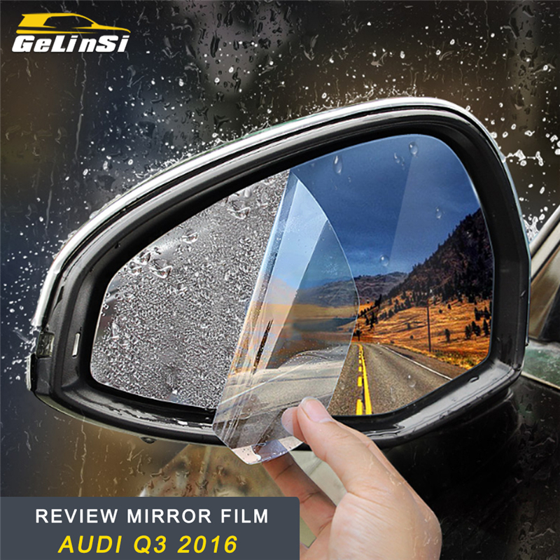 GELINSI Review Mirror Film Sticker Exterior Accessories for Audi Q3 2016 2017 2018 Car Styling