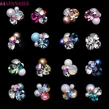 10pcs/Pack Fancy Metal Jewelry Charms 3D Multi-color Flower Cluster Rhinestone DIY Nail Art & Phone Decoration JE206-221