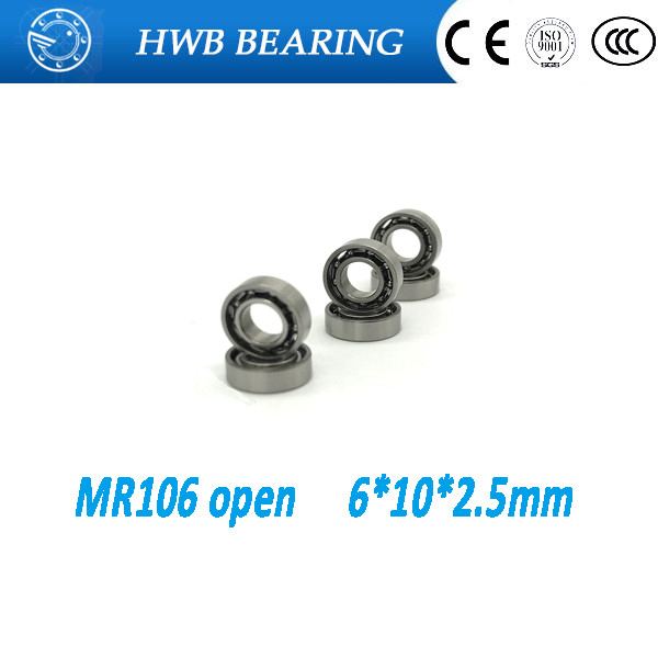 Free Shipping 10 PCS MR106 Open Type Ball Bearings 6x10x2.5 mm Miniature Ball Bearings L-1060  free shipping 10 pcs 684zz 684z 684 bearings 4x9x4 mm miniature ball bearings l 940zz abec5