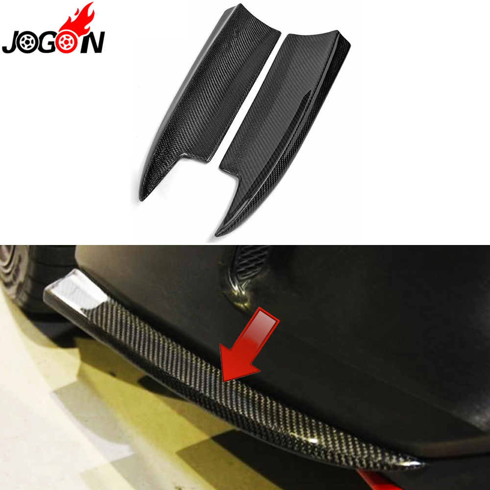 Carbon Fiber For Mercedes Benz CLA Class C117 CLA180 CLA250 CLA200 CLA45 2014 2015 Rear Bumper Lip Splitter Spoiler Corner Trim 2015 2016 amg style w205 carbon fiber rear trunk spoiler wings for mercedes c class c180 c200 c250 c300 c350 c400 c450 c220