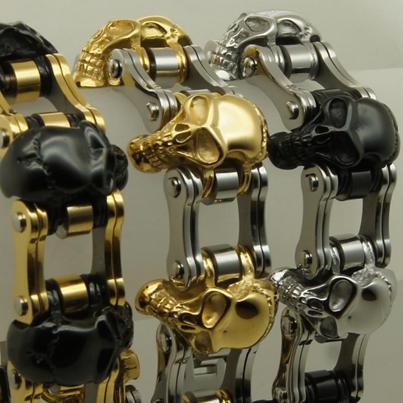 Bracelet de chaîne en acier inoxydable 316L pour hommes/garçons