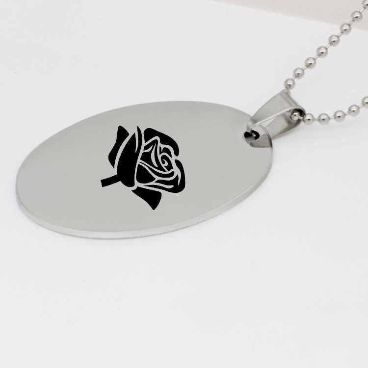 Fashion Rose Flower Necklace Best Gift For Women Custom Stainless Steel Beads Chain Jewelry Dropship Accepted YP4230