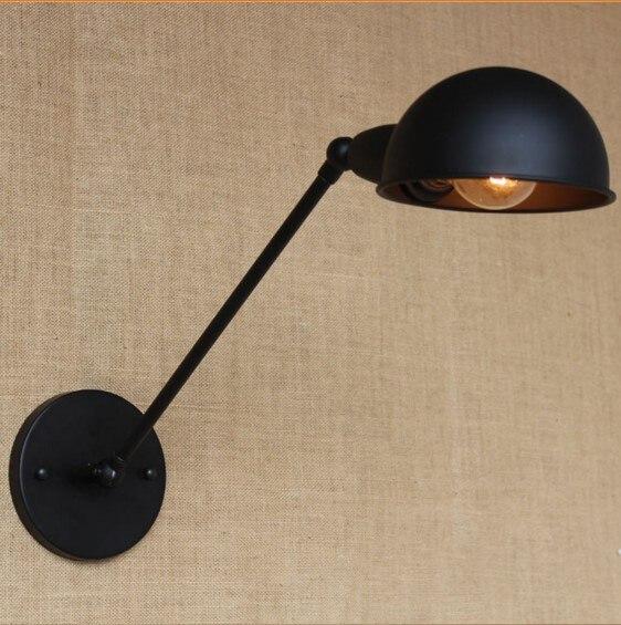 Edison bras noir Vintage lampe murale éclairage intérieur en Style Loft escalier lumière industrielle applique murale Arandela Luz De Parede