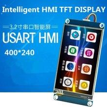 3.2 calowy dotykowy TFT z GPU USART ekran konfiguracji obrazu HMI czcionka szeregowa chińska wersja 400*240 jak model NX4024T032