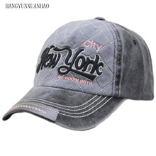 HANGYUNXUANHAO Washed 100% Cotton Baseball Cap Hat For Women Men Vintage Dad NEW YORK Embroidery Letter Outdoor Sports Caps