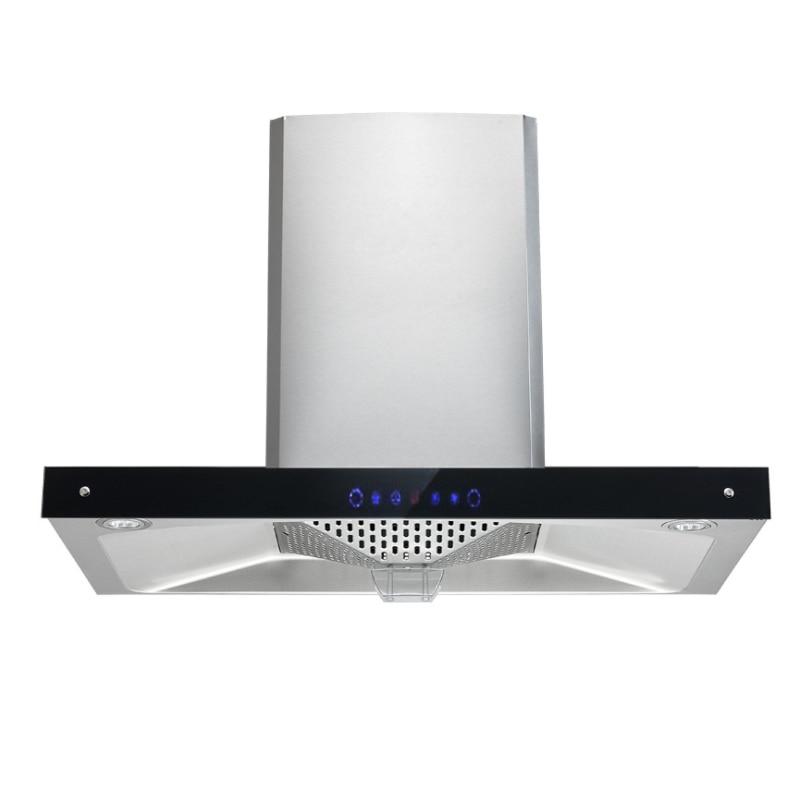 Gamme domestique bois Top Type d'aspiration ventilateur de cuisine Lagre aspiration huile fumée échappeur CD-4D26