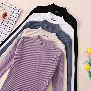 Turtleneck Thick Warm Women Autumn Winter Pullover Sweater High Elasticity Knitted Soft Jumper Long Sleeves Sweater Femme Top Kitchen Appliances