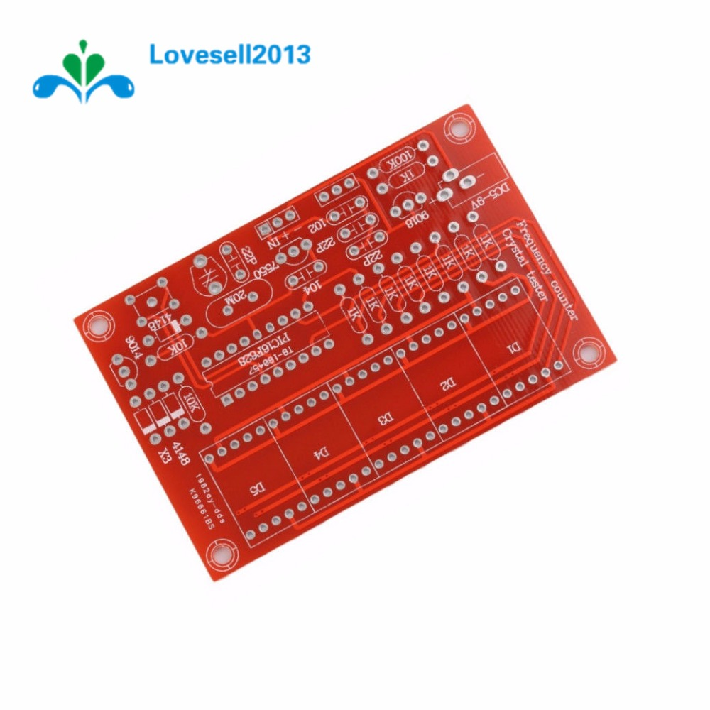 1PCS 1HZ-50MHz DDS Crystal Oscillator Frequency Counter Meter Digital LED Kit
