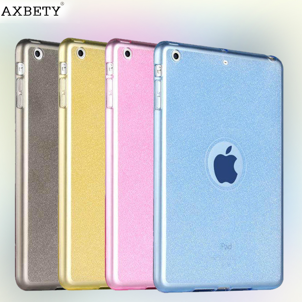 Fashion tpu Case For apple Ipad Air 2 Case glitter Silicon Transparent Protection cover For iPad air 2 iPad 6 Soft Plastic case ctrinews for ipad air 1 case clear transparent soft tpu silicone back case for apple ipad 5 air 1 tablet pc protective cover