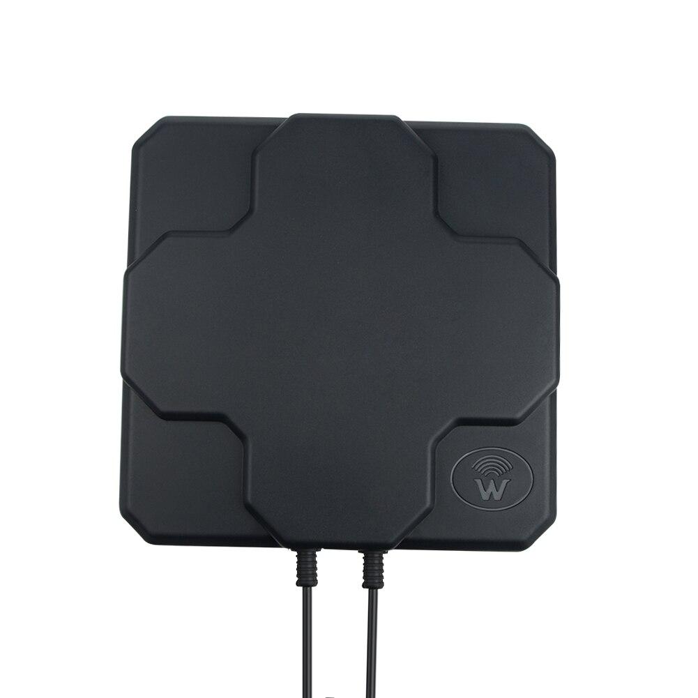2 * 22dBi al aire libre 4G LTE MIMO antena, LTE dual polarización panel antena SAM-Macho conector