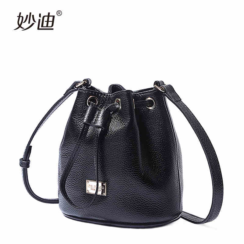 A2012 New Arrival Genuine Leather women's Bucket bag Crossbody lady Shoulder Bags Female Messenger Bag All-match Colors Bolsas