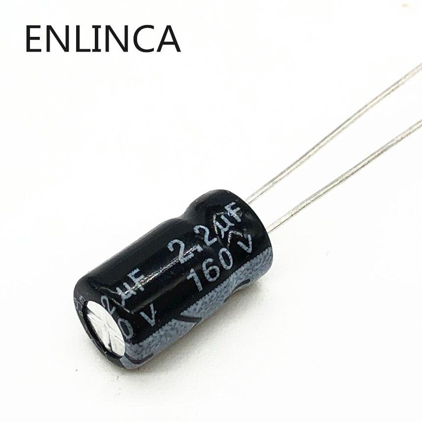 20pcs/lot BC09 160v 2.2UF Aluminum Electrolytic Capacitor Size 6*12 2.2UF 20%