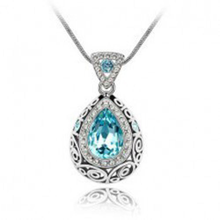 Necklaces wholesale high bright beautiful crystal necklace - guardian sign pendant 203