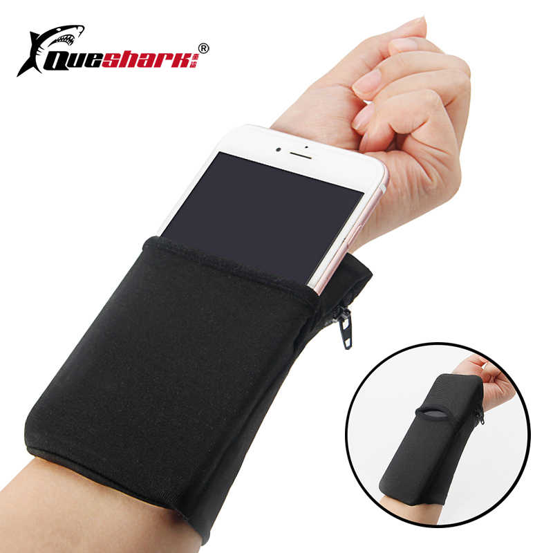 Sport Armband Running Bag Gym Fietsen Polsband Badminton Tennis Zweetband Polssteun Pocket Wrist Wallet Pouch Arm Bag