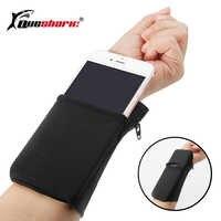 Sport Armband Running Bag Gym Cycling Wristband Badminton Tennis Sweatband Wrist Support Pocket Wrist Wallet Pouch Arm Bag